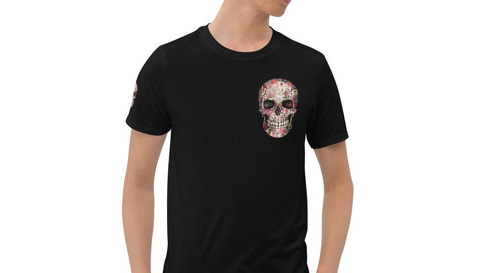 Shoulder candy skull Unisex T-Shirt