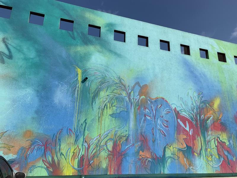Museum of Latin American Art (MOLAA) mural