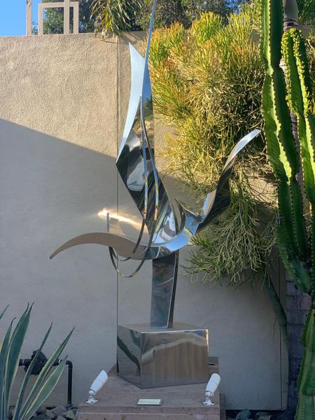 Art sculpture in the Museum of Latin American Art (MOLAA)