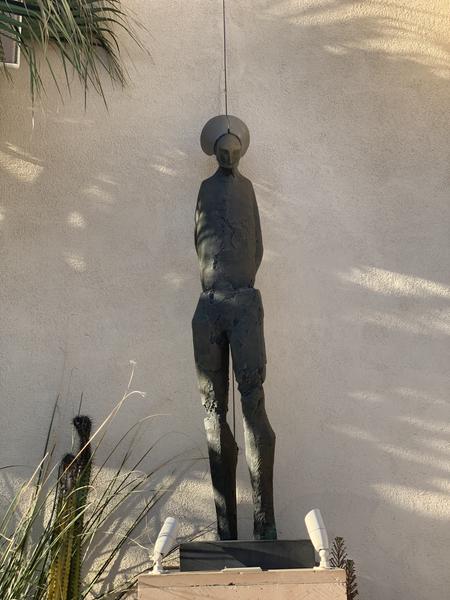Art sculpture in the Museum of Latin American Art (MOLAA) sculpture garden