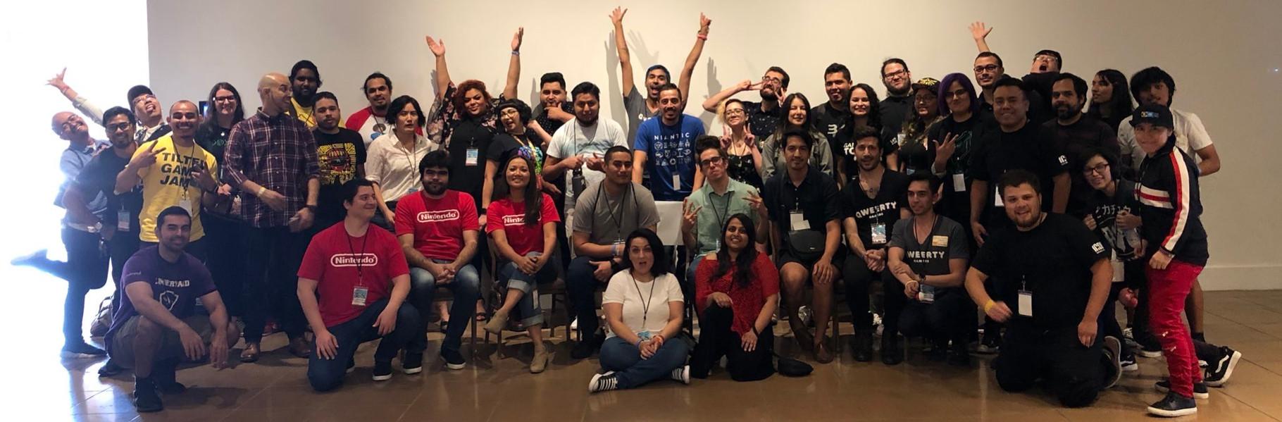 Latinx Games Festival organizers, volunteers, sponsors, and panelists