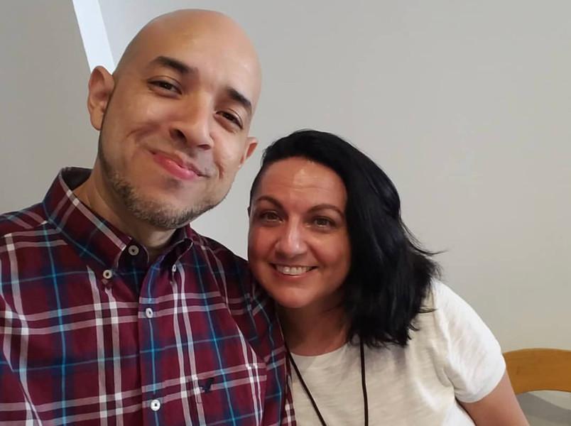 Danny Pena, Gamertag Radio Podcast and Venisia Gonzalez, volunteer
