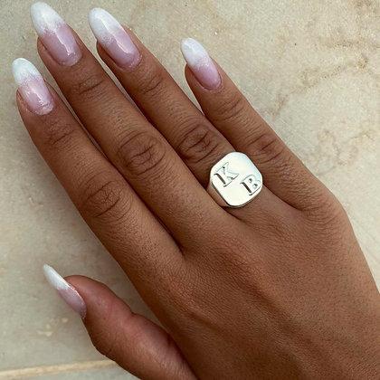 טבעת חותם אותיות