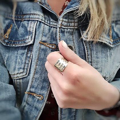 טבעת פס חריטה -  4 שורות