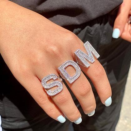טבעת אות בגטים כסף