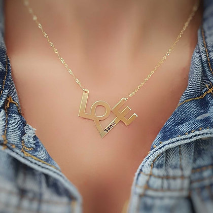 Love necklace with engraving