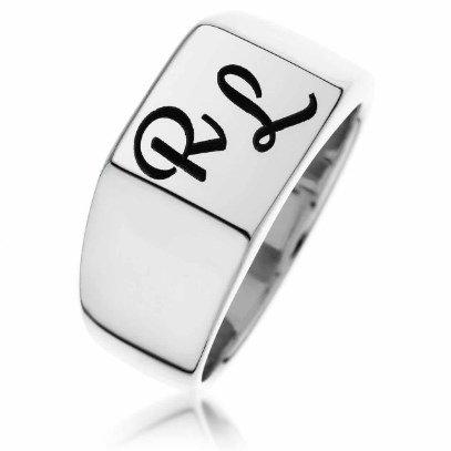 טבעת חותם מרובעת לחריטה
