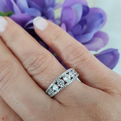 טבעת כסף דיאנה