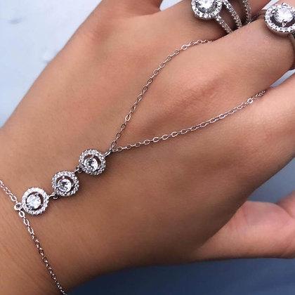 צמיד טבעת עיגולי סוליטר