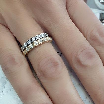 טבעת יהלומים פרחונית - משובצת 0.11 קראט