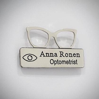 תג שם לרופא עיניים / אופטומטריסט