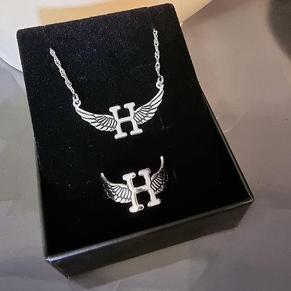 סט שרשרת וטבעת כנפיים 2