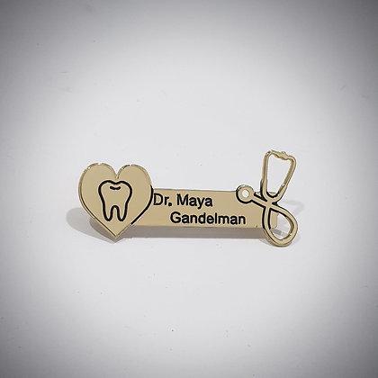 תג שם לרופא שיניים