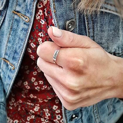 טבעת פס חריטה - 1 שורה