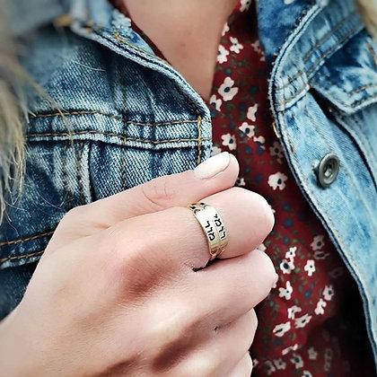 טבעת פס חריטה - 2 שורות