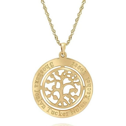 שרשרת אילן - עץ החיים בשילוב חריטה