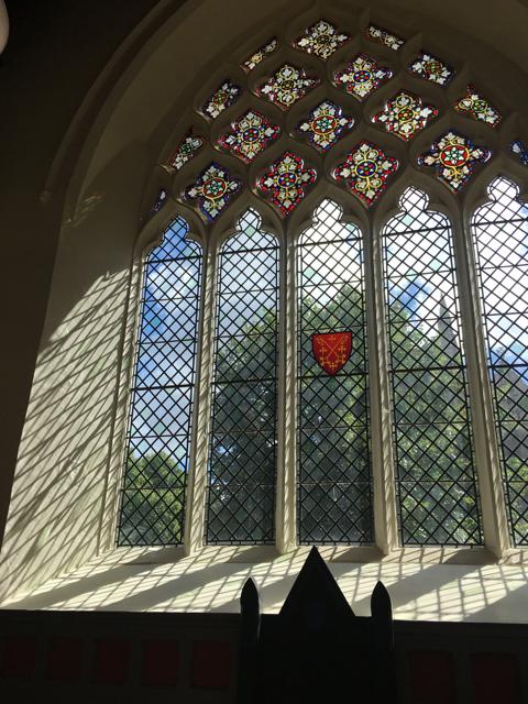 Window in Beckett Chapel