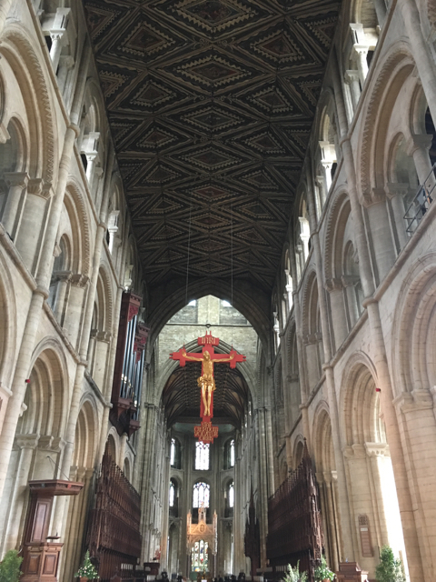 crucifix& roof Peterborough Cathedral