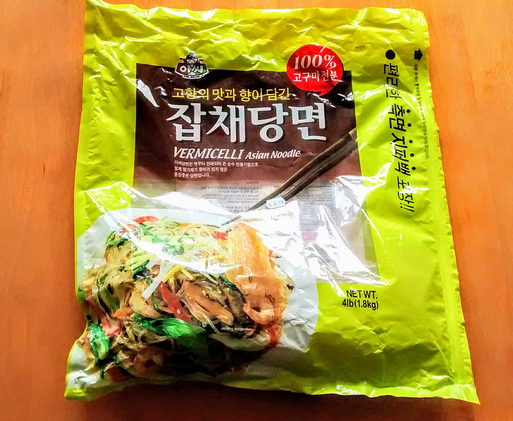 Korean glass noodle package