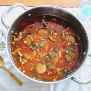 Quirky, summer squash chili
