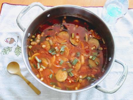 Quirky, summer squash chili