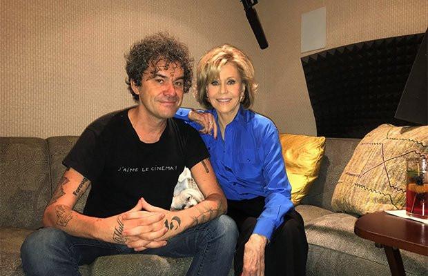 Mark Cousins bij een van de vertellers van 'Women make film', Jane Fonda