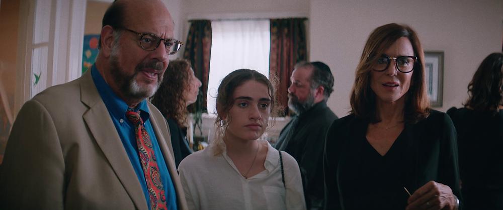 Fred Melamed, Rachel Sennott en Polly Draper in 'Shiva baby'