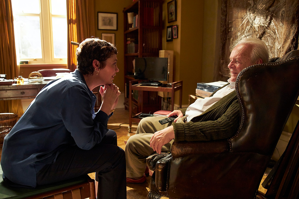 Olivia Colman en Anthony Hopkins in 'The father'