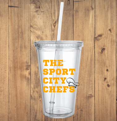 Sport City Chefs Logo 24oz Reusable Tumbler
