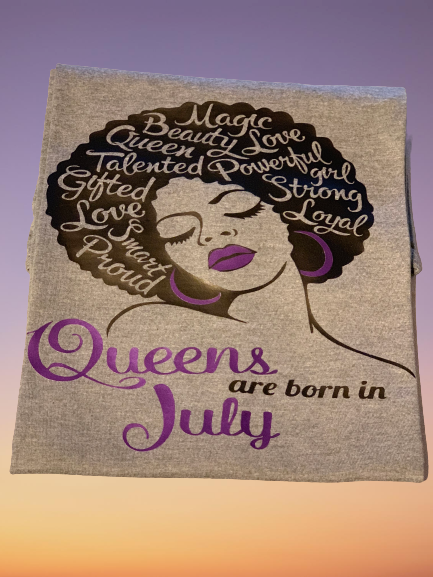 Queens Are Born In T-Shirt