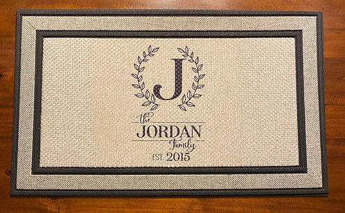 Personalized Rubber Backed Door Mat
