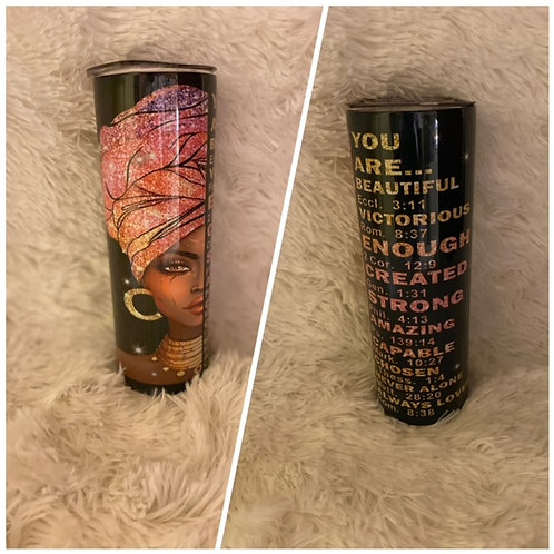 You Are Beautiful 20oz Sublimated Stainless Steel Custom Tumbler