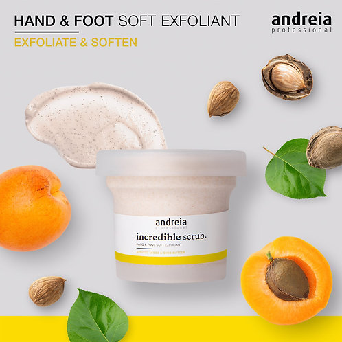 Andreia Incredible Scrub, Esfoliante de Máos e Pés 200g