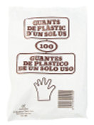 Luvas Descartéveis/Parafina 100unidades