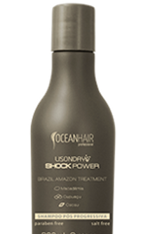 SHAMPOO PÓS PROGRESSIVA SHOCK POWER LISONDAY OCEAN HAIR PROFESSIONAL - 300mL