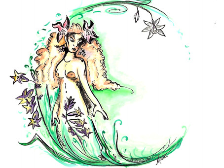 La vierge en fleur