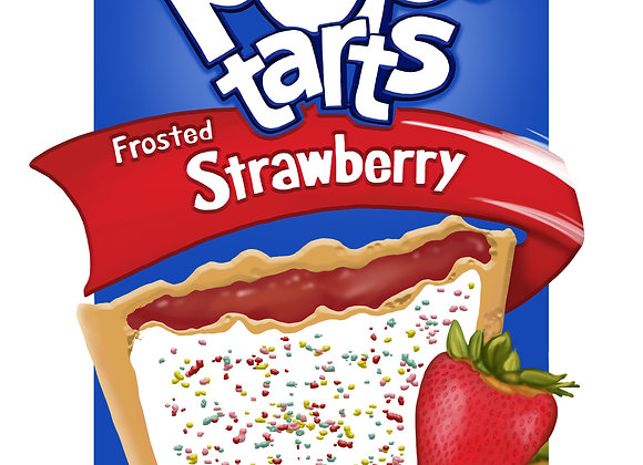 3D Pop Tarts - Strawberry