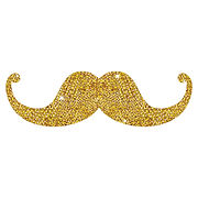 isolated-gold-mustache-design-icon-gentl