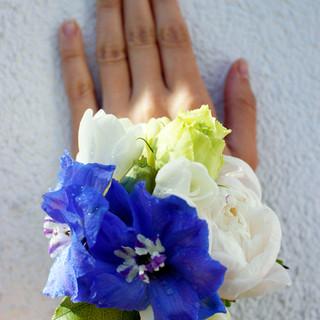 biało-niebieska bransoletka