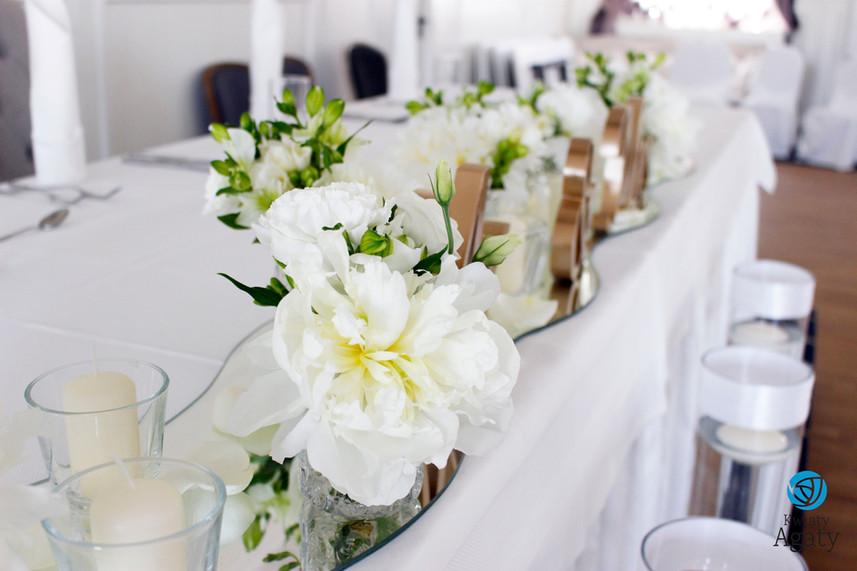 kwiaty na stół Pary Młodej