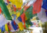 Drapeaux népalais lors du voyage humanitaire à Phalpu de Kiamalou