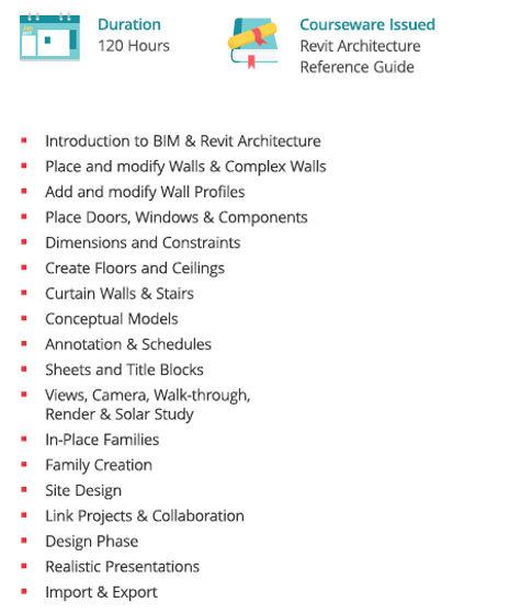 Revit Architecture course - exponiq engineering