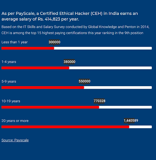Ethical Hacking Pay Scale