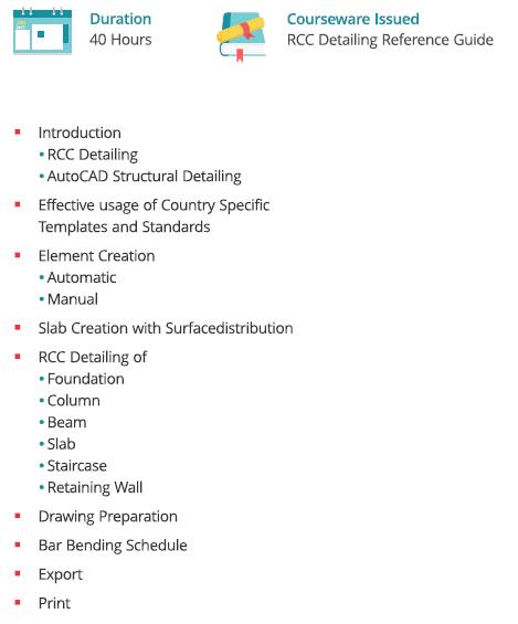 RCC Detailing course - Exponiq Engineering