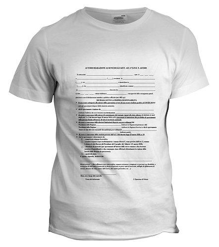 T-shirt Autocertificazione COVID-19