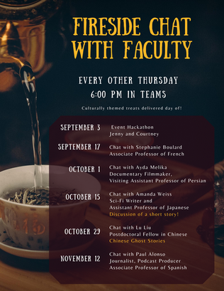Fireside Chats with Faculty Tuesday_ Sep
