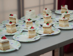 Wedding cake for the guests.