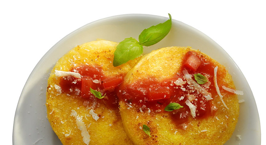 Polenta with sauce