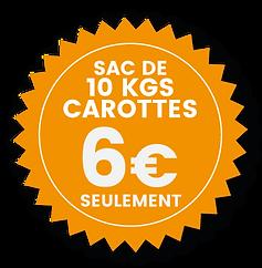 Chevarotte vous propose un service de livraison ou à emporter pour des sachets de carottes fraîches de 10kgs pour vos chevaux.