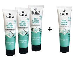 3 Crèmes Réparatrices Bio  100 ml MARLAY + 1 GRATUITE